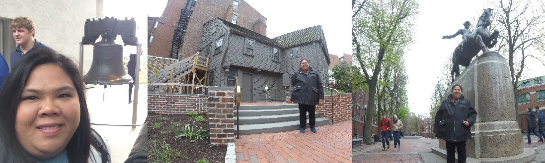 Visiting the Liberty Bell at Philadelphia and Paul Revere's Home and Monument at Boston
