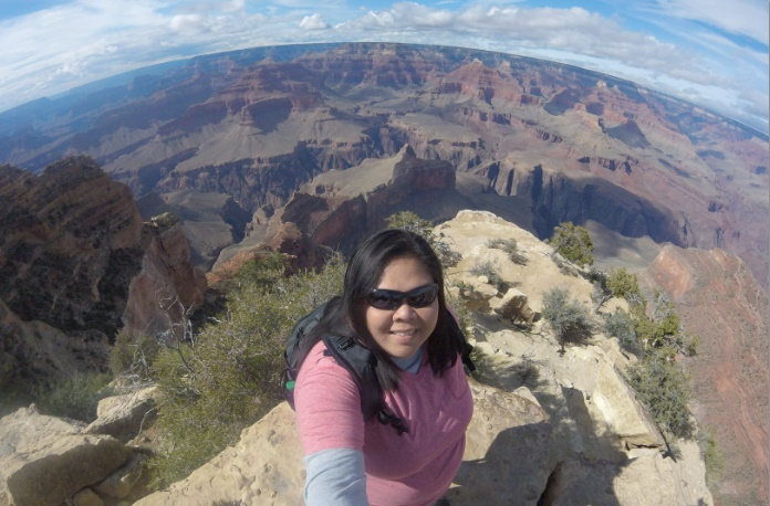 A Selfie With The Beauty of The Grand Canyon Behind Me