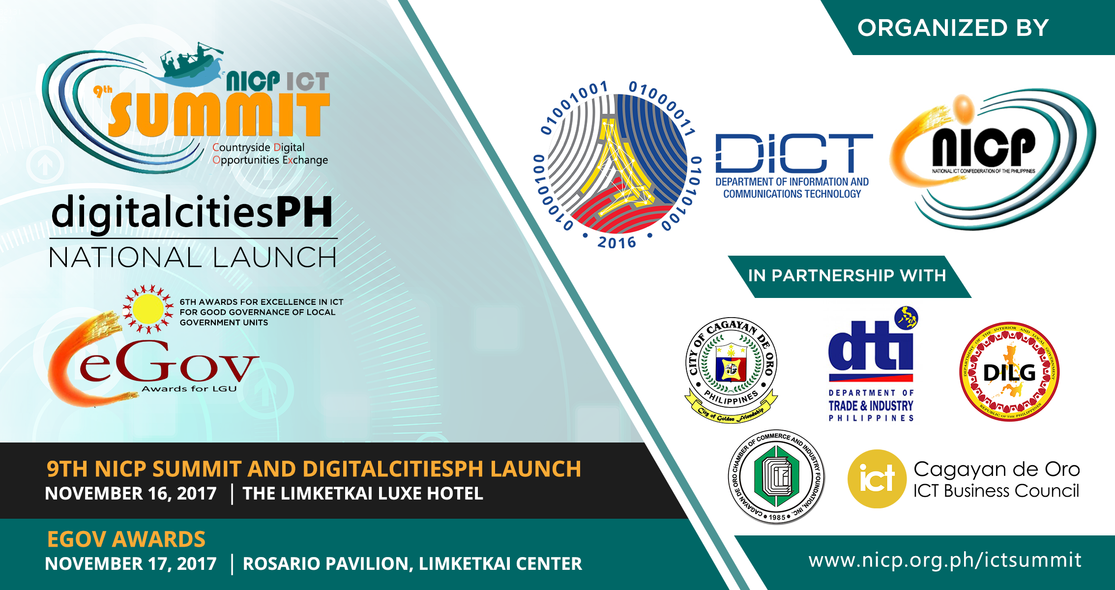 9Th NICP Summit, DigitalCitiesPH and Egov Awards